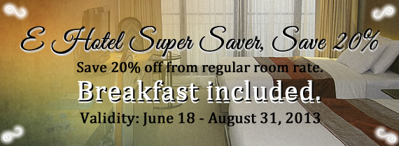 E Hotel Super Saver, Save 20%
