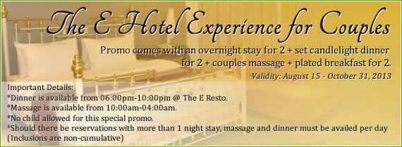 The E Hotel Experience for Couples