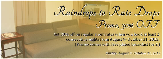Raindrops to Rate Drops Promo, 30% OFF
